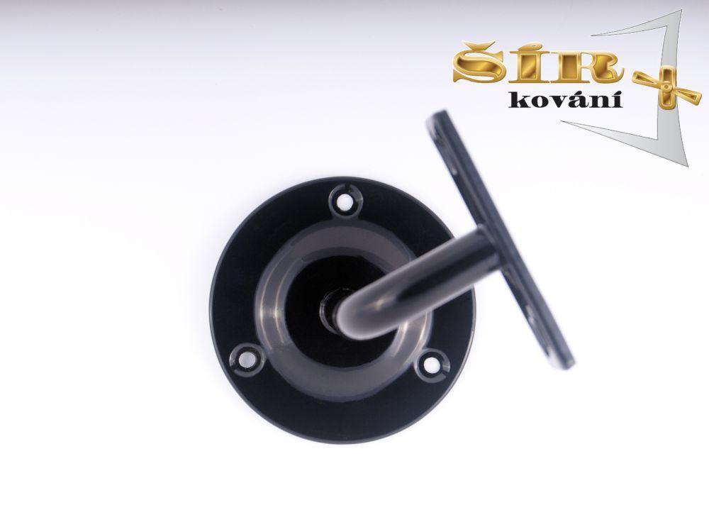 Univerzální držák madla schodišťového zábradlí - Typ NOVA Černý RAL