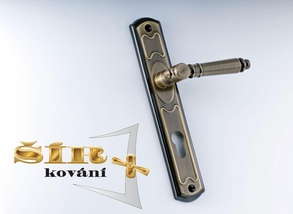 MODELOVÁ ŘADA Dveřní MOSAZNÉ KOVÁNÍ EVA provedení: klika-koule BR