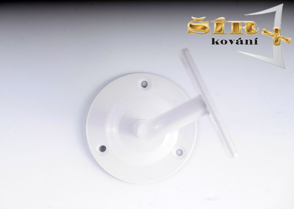 Univerzální držák madla schodišťového zábradlí - Typ NOVA Bílý RAL