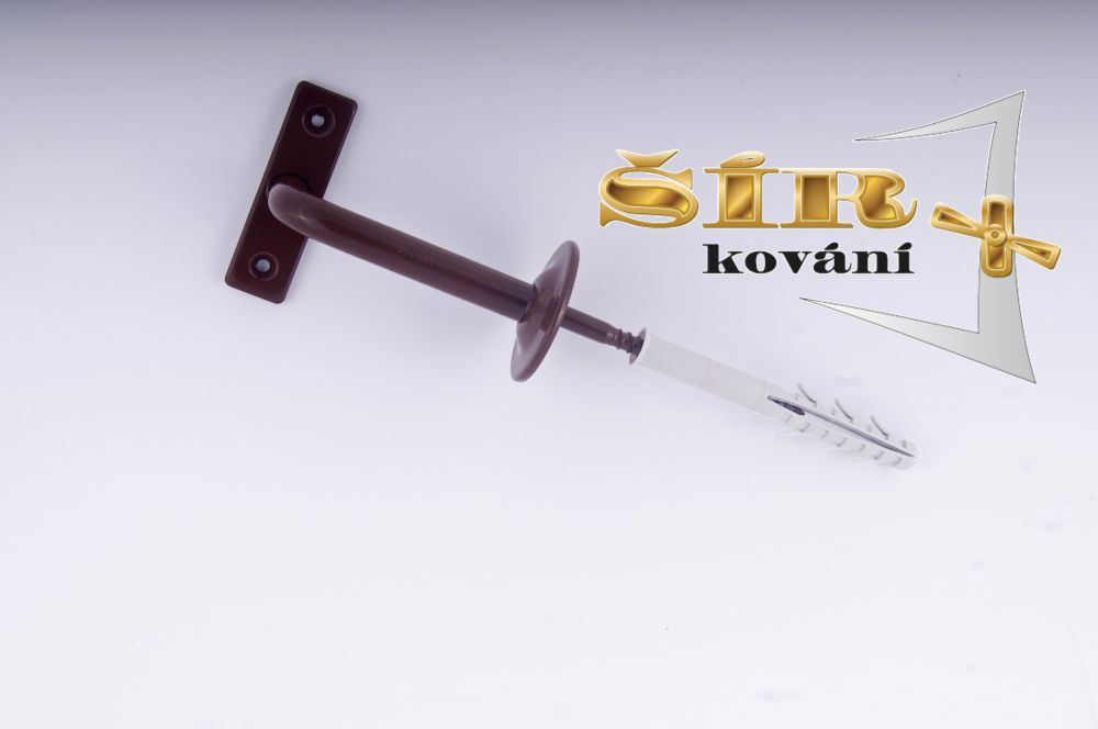 Univerzální držák madla schodišťového zábradlí - Typ KLASIK Hnědý RAL