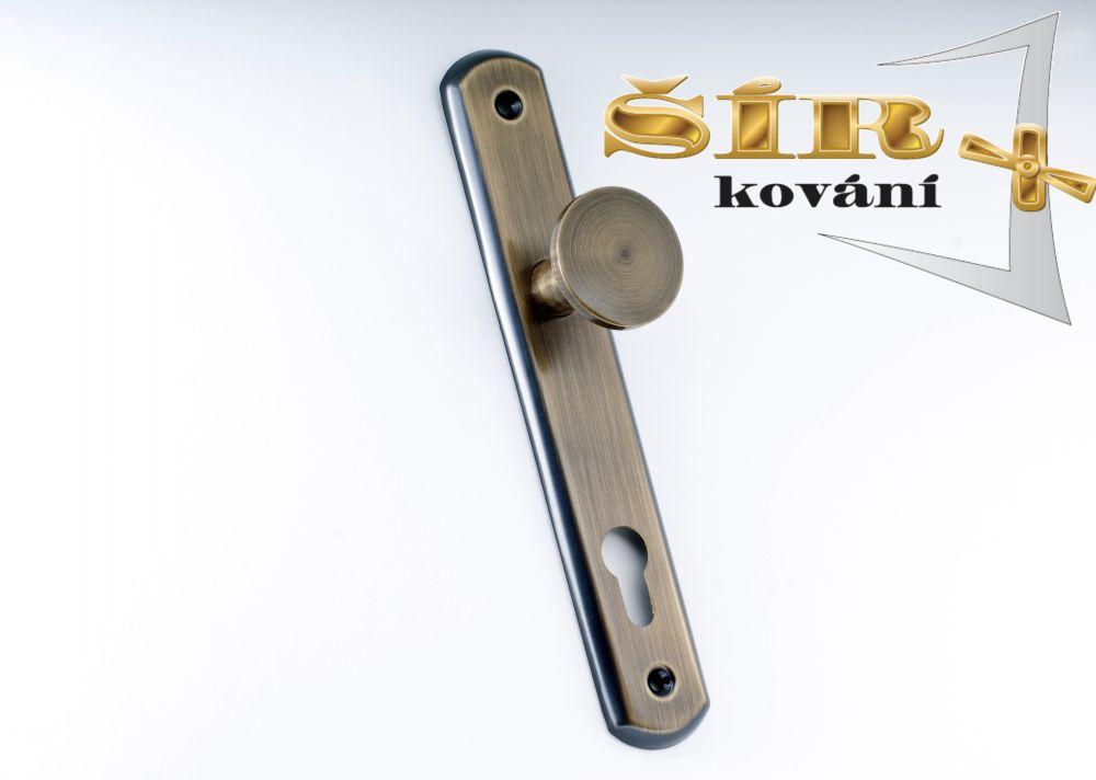 MODELOVÁ ŘADA Dveřní MOSAZNÉ KOVÁNÍ DÁŠA provedení: klika-koule BR