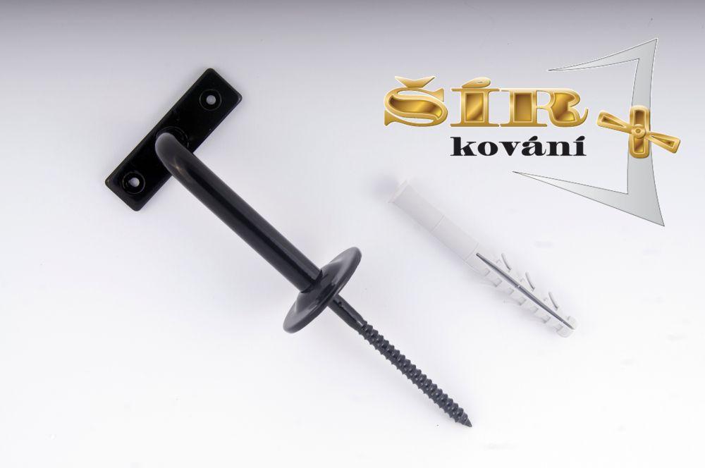 Univerzální držák madla schodišťového zábradlí - Typ KLASIK Černý RAL