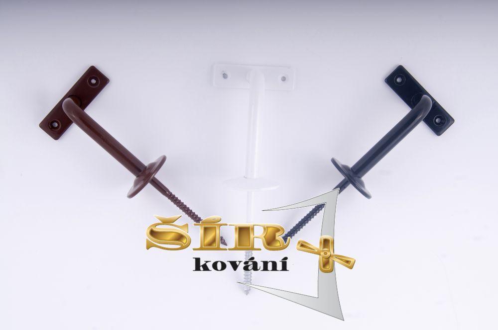 Univerzální držák madla schodišťového zábradlí - Typ KLASIK Bílý RAL