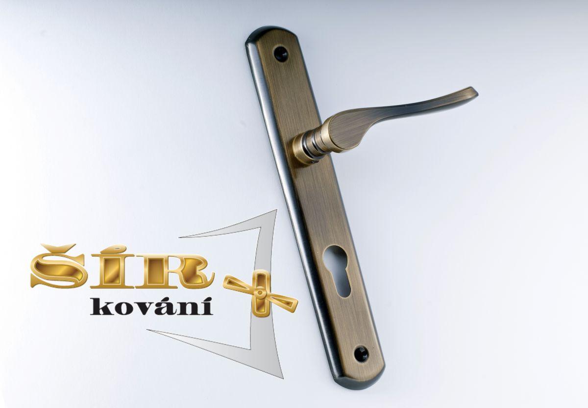 MODELOVÁ ŘADA Dveřní MOSAZNÉ KOVÁNÍ ELA provedení: klika-klika BR
